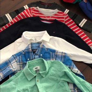 Other - Six boys sweaters and dress shirts all size 4T